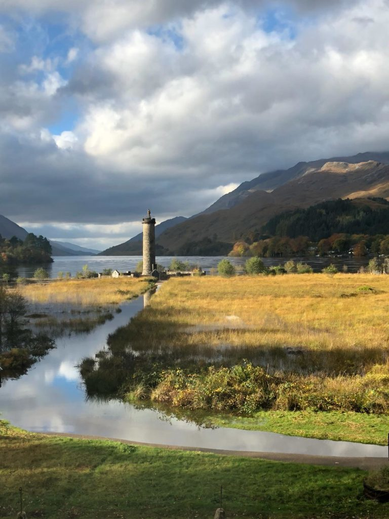Flooding cut off public access to Glenfinnan Monument