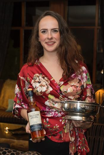 Stefanie's in high spirits after whisky skill win