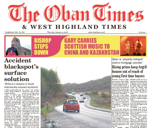 Oban Times PDF Archive 2008