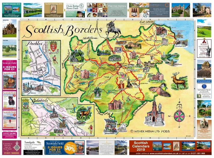 Scottish Borders Map 2018