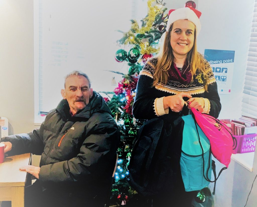 Oban gives bags of help to homeless