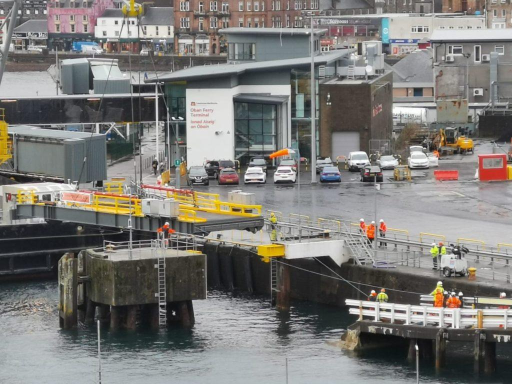 Linkspan maintenance work begins at Oban harbour