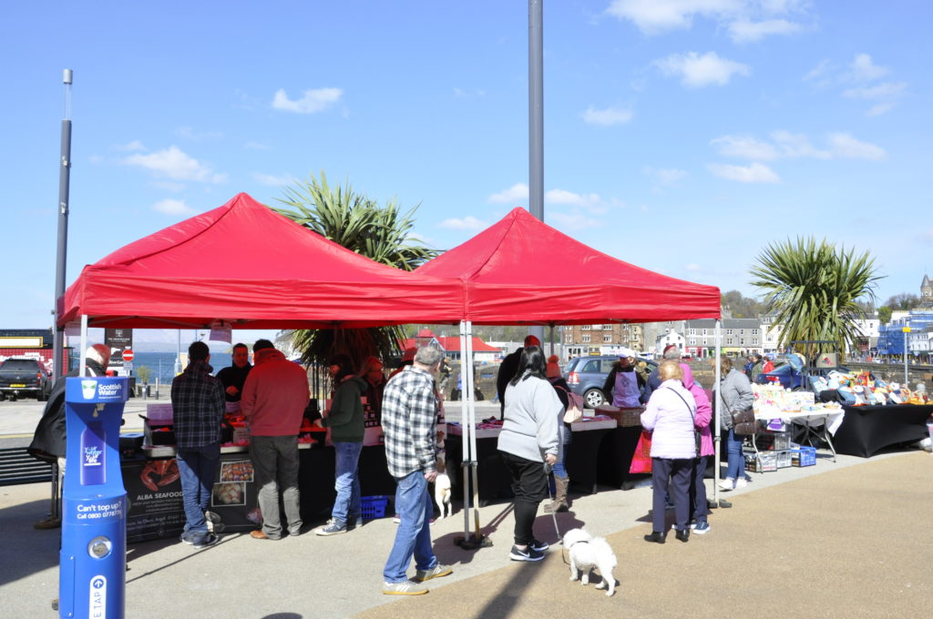 Sun shines on this year's first Oban town market