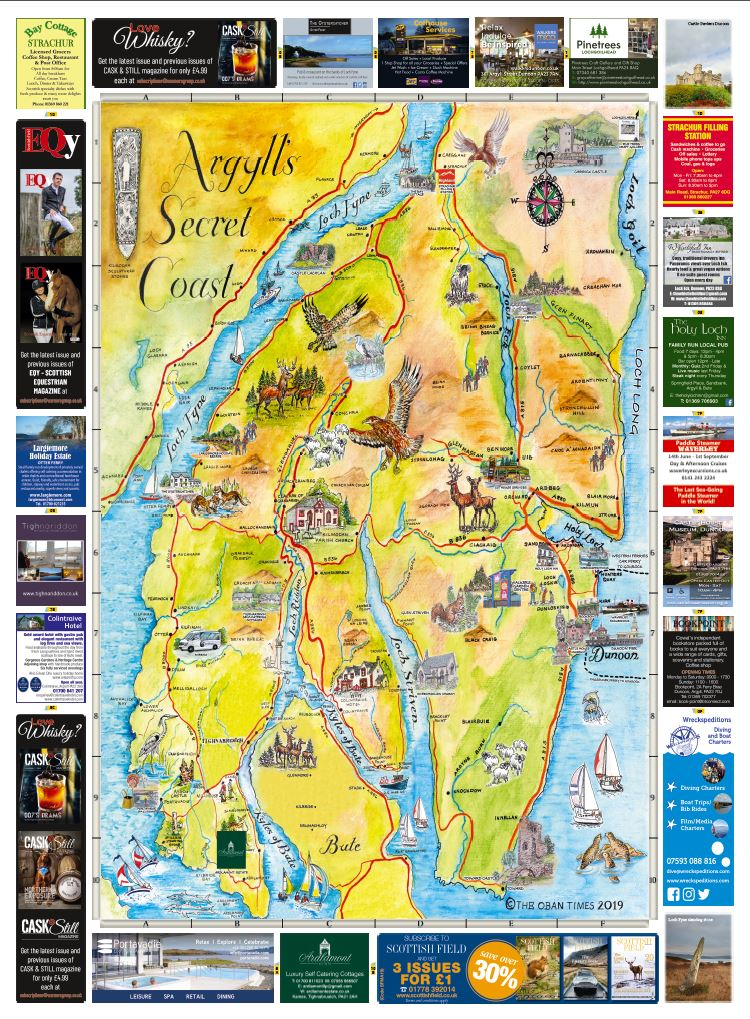 Argylls Secret Coast & Bute Maps 2019