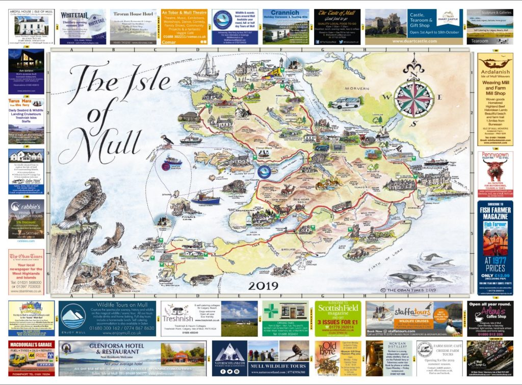 Isle of Mull & Mull and Iona Maps 2019