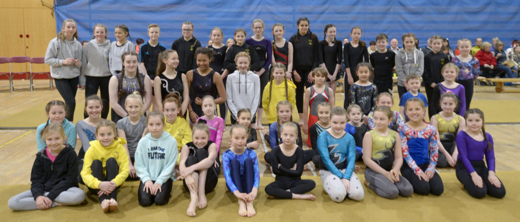 Young Lochaber gymnasts put on a show at Nevis Centre