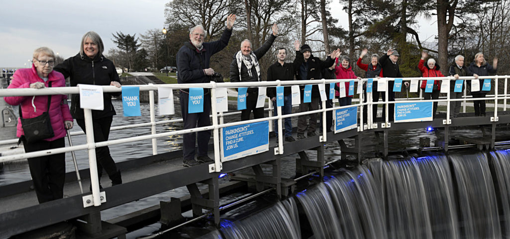 Lochaber goes blue for World Parkinson's Day