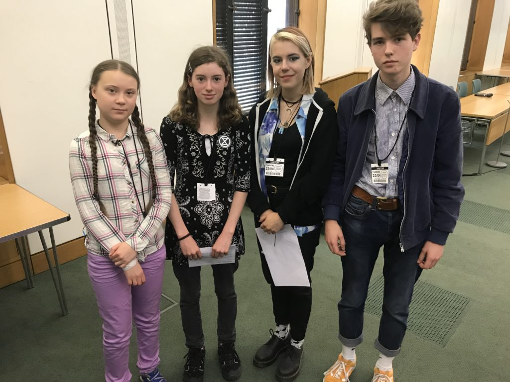 Fort campaigner Holly joins Greta to turn up heat at Westminster talks