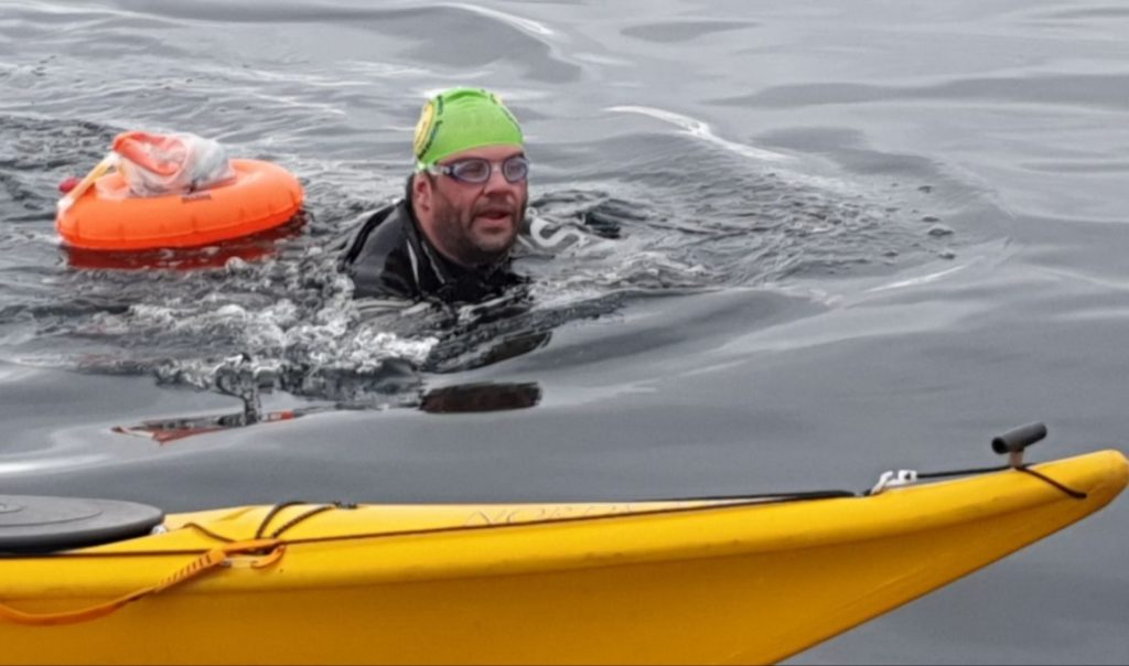 Island swimmer Colin makes it across the Minch
