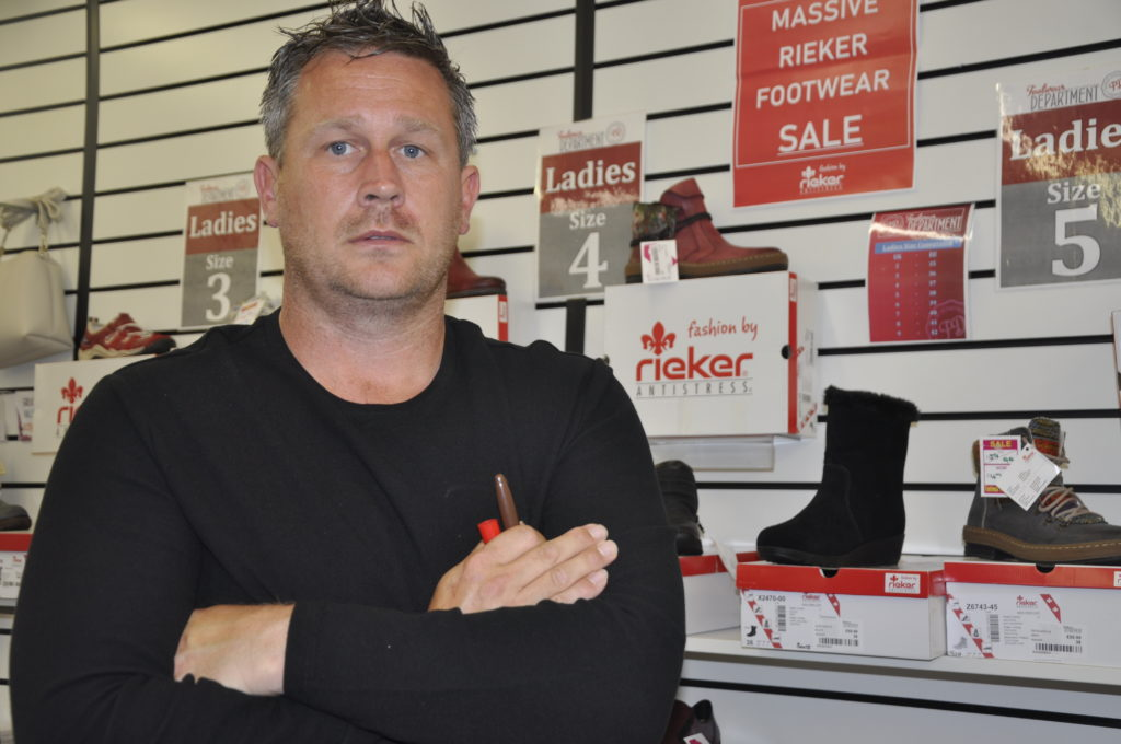 Lack of footfall paves way to shoe shop's closure