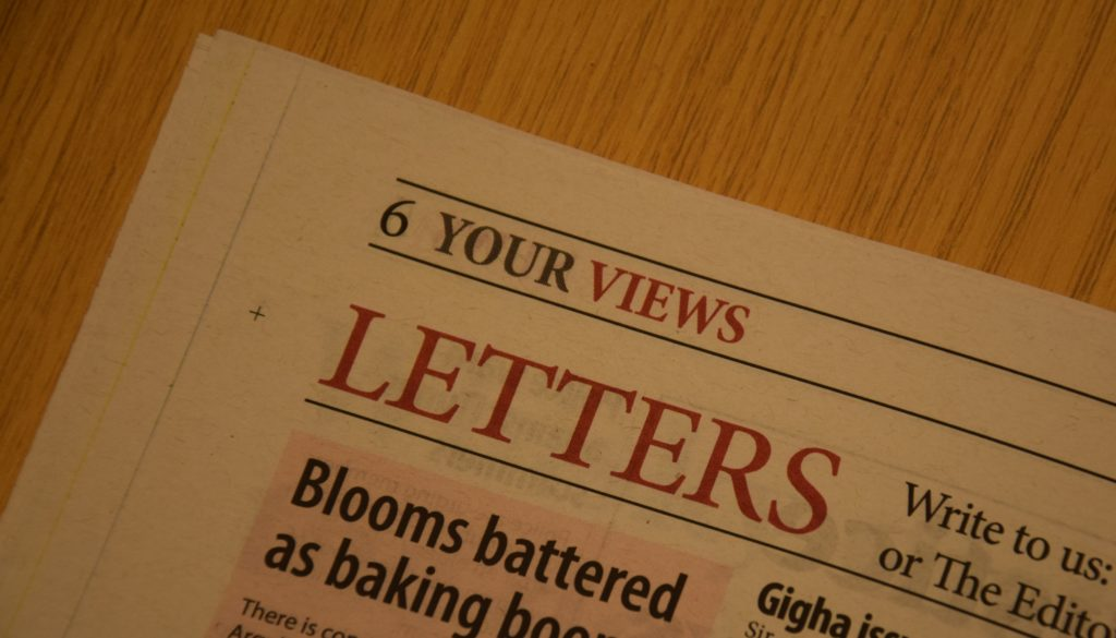 Letters to the editor 12.03.20