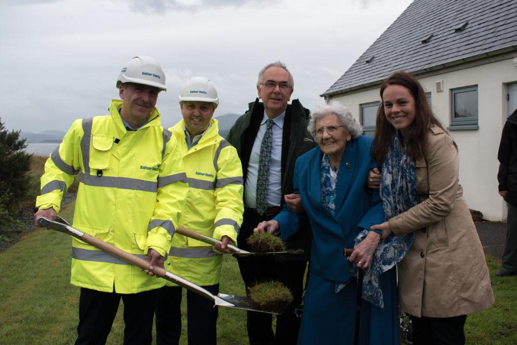 Turf-cutting marks start of work for Broadford community hospital