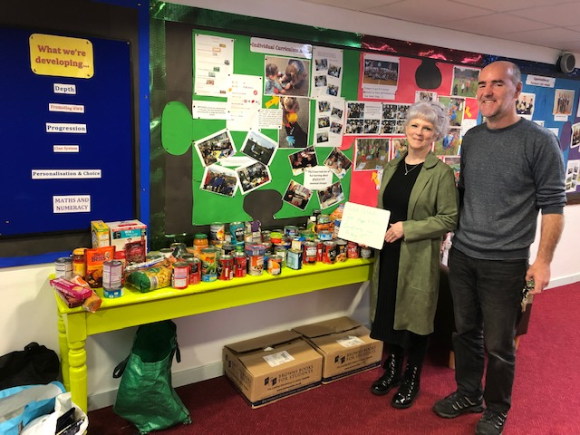 Hope reaps harvest donation from Park pupils