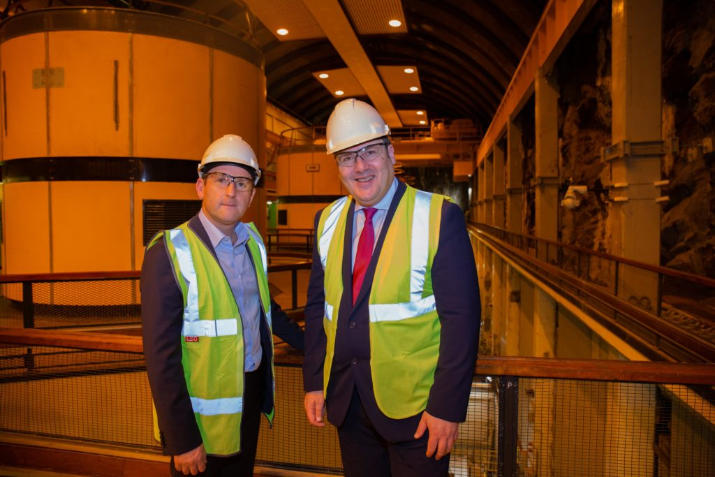 Energy Minister visits Cruachan power plant