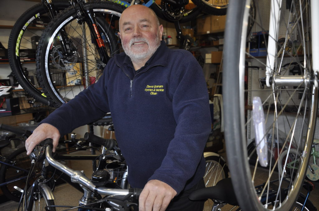 Bike shop owner ready to take his feet off the pedals