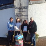 Pictured are Jean Campbell, Blythswood Care; Debbie White, Ardnamurchan High School, and pupils Megan MacDonald and Isabella Sutherland. NO-F46-shoebox-appeal.jpg
