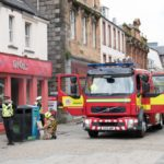 Firefighters, like those pictured in action in Fort William, have had to tackle the lowest number of blazes in five years. NO F47 firefighters in Fort