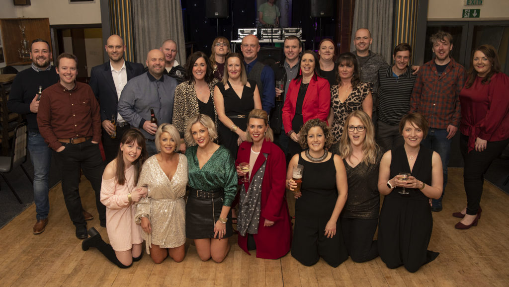 Members of Lochaber High School Class of '97 held a reunion in the Railway Club last month to celebrate many of them turning 40. Photograph, Iain Ferguson, alba.photos NO F49 CLASS OF 97 REUNION