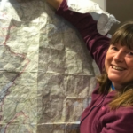 Karen checks her route through Lochaber this week. NO F49 Karen penny 02