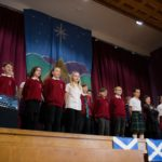 Banavie Primary pupils sang songs to celebrate St Andrew's Day. NO F50 Banavie St Andrews day celebrations-8