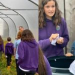 Pupils from Lundavra Primary School learning about growing their own food. LEG 02
