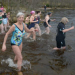 Swimmers take the New Year's Day plunge at Glenfinnan. Photograph: Iain Ferguson, alba.photos NO F02 GLENFINNAN SWIM 03
