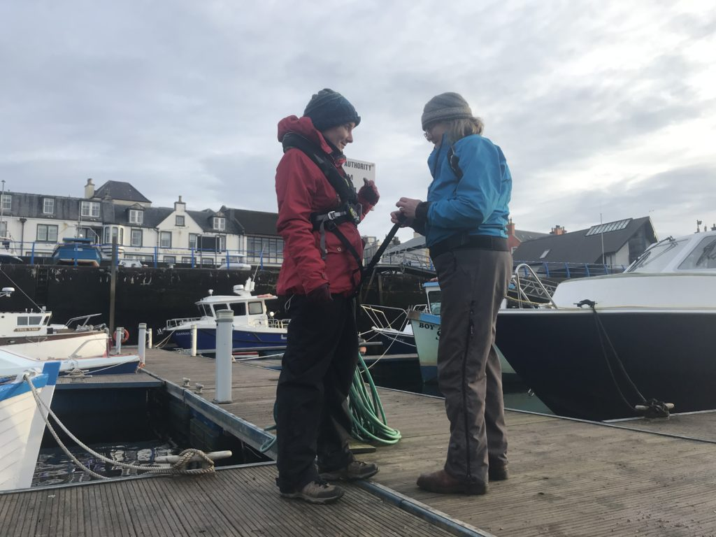 Stornoway rowers get new safety equipment from wind farm charity