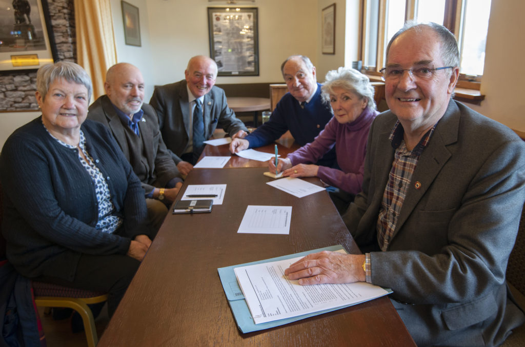The first meetng of the new Lochaber Probus Club was held on Thursday, including organisers David Anderson (right) and David Robertson (third) from right). Photograph: Iain Ferguson, alba.photos NO F03 LOCHABER PROBUS CLUB