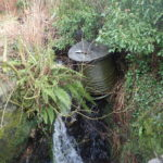 One of the abandoned cable drums. NO-F03-Onich-cable-drum.jpg