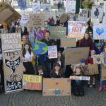 Lochaber school pupils and local residents took part in a a number of climate crisis protest marches in Fort William in the autumn. Picture Iain Ferguson, alba.photos NO-F04-Climate-change-march.jpg