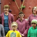 Members of the 3 Wise Monkeys Climbing Team that took part in the event. NO F05 3 Wise Monkeys team
