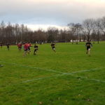 Some action from the game at Birkmyre's ground at Kilmacolm. NO F05 Lochaber RFC versus Birkmyre