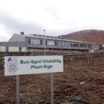 Gaelic medium education primary schools, such as this one at Portree on Skye, have helped bolster the survival of the language in the Highlands. NO F05 Portree Gaelic school