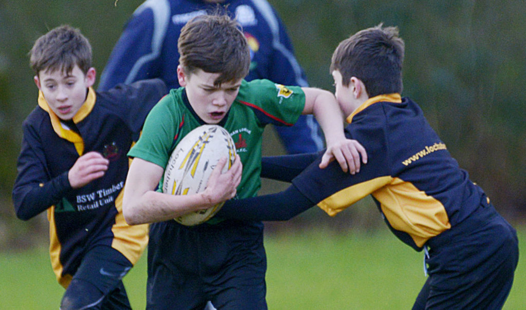 Lochaber young rugby players tackle Oban counterparts in double-header