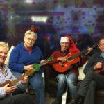Sue, Susan, Aidan and Alan having a go at Jingle Bells at the Tinsel Tea. NO_T02_tinseltea01