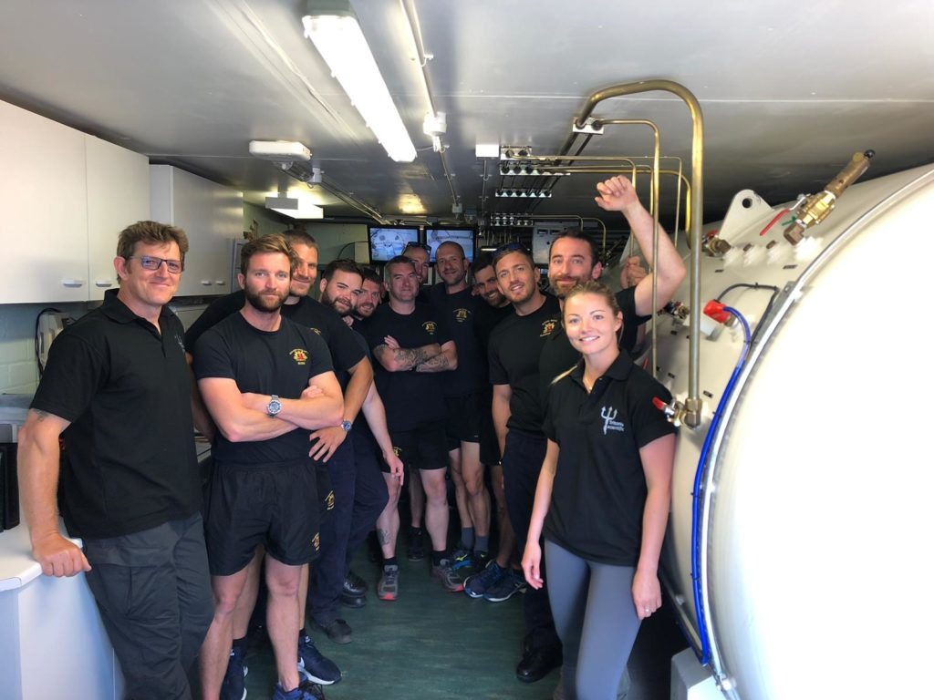 Busy year for Oban's recompression chamber