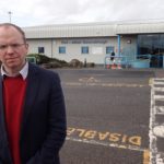Donald Cameron at Stornoway Airport.