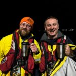 Tobermory's new deputy coxswains, Iain Malcolm and Dave Underwood, after their pass outs. Photograph: RNLI/David McHaffie