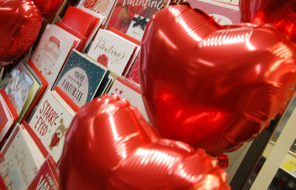 Valentine's Day - hearts and cards