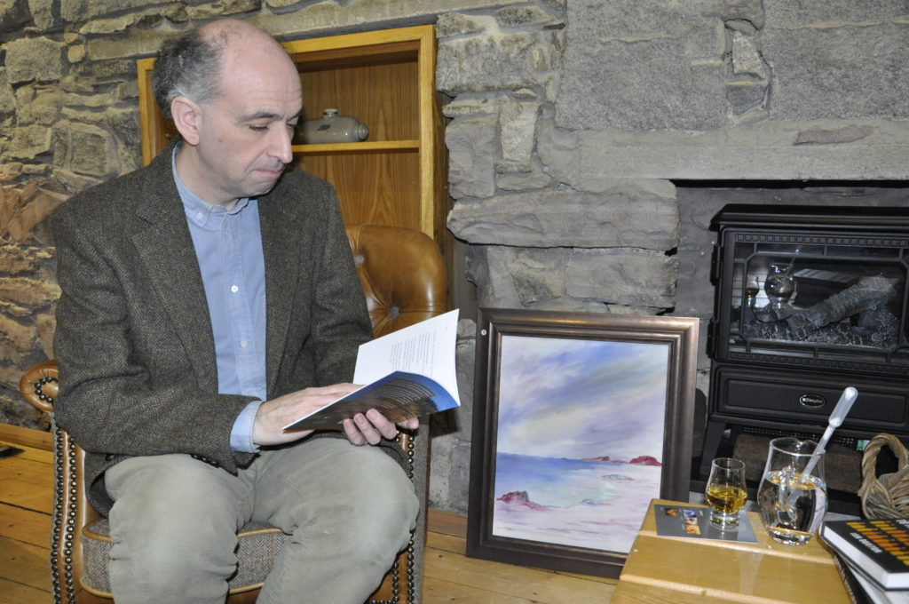 Poet Kenneth swaps pen for paint for Oban Distillery exhibition