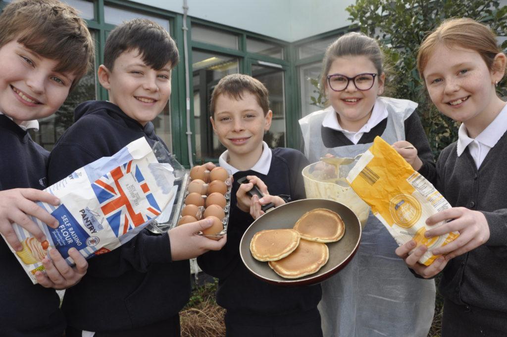 Pupils' pancake day was 'flipping' fun