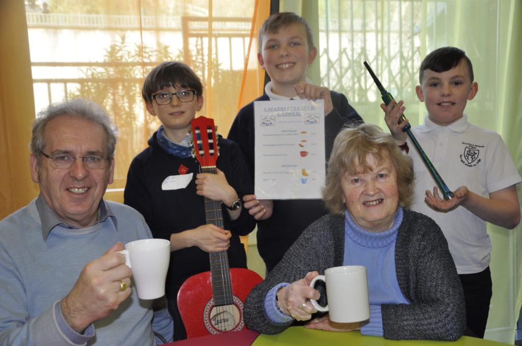 Pupils serve up Gaelic cafe