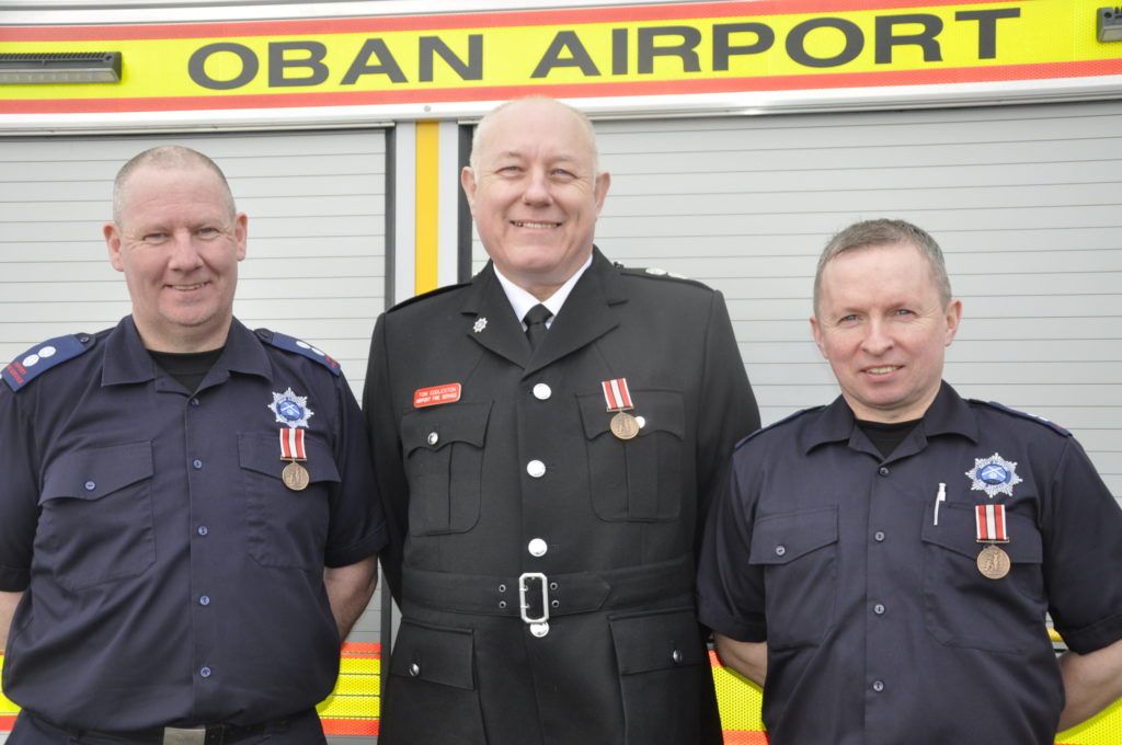 Long-service honours for airport firefighters