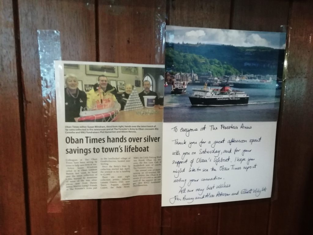 Pub's lifeboat supporters thanked in kind