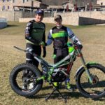 Ben Dignan, right, and Dougie Lampkin are both now riding for the same team in 2020. NO F07 Ben Dignan and Dougie Lampkin