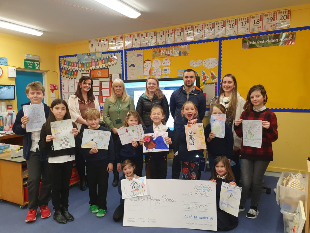Duror youngsters put Ballachulish Co-op in picture as thanks for donation