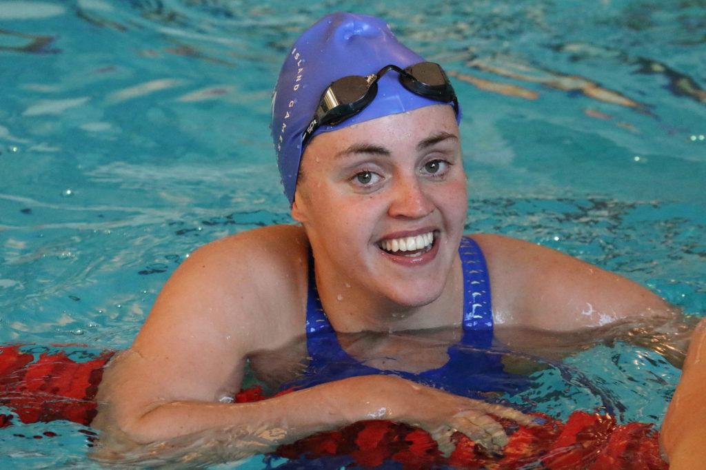 Kara using the Lewis Sports Centre swimming pool. NO F07 Kara at Lewis pool