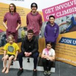 Members of 3 Wise Monkeys climbing team that took part in Saturday's event in Inverness. NO F07 climbing competition winners