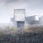 The concept design for the new visitor centre by award-winning Norwegian architect, Reiulf Ramstad. NO F09 Concept Design