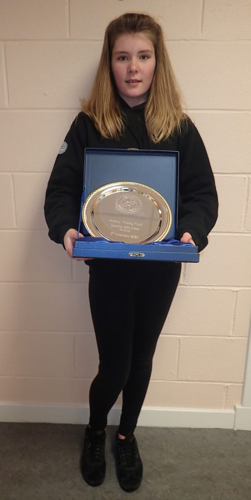 Helen Jones, pictured, won the Rotary Young Chef District final earlier this month. NO-F09-Helen-Jones.jpg
